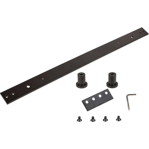 National Hardware Oil Rubbed Bronze Steel Interior Barn Door Hardware Kit