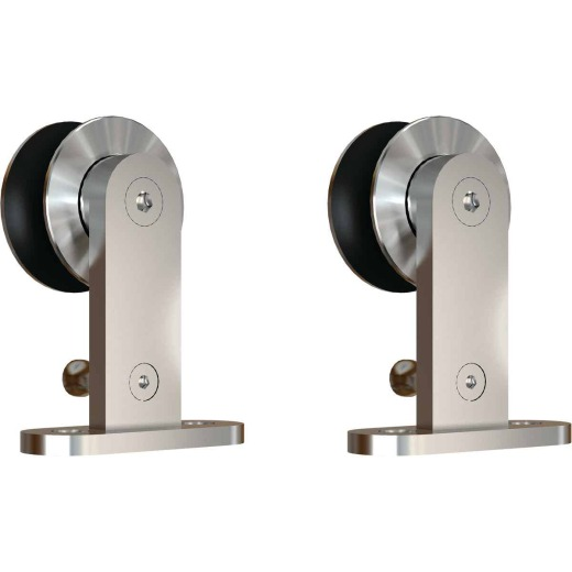 National Stainless Steel Interior Barn Door Top Mount Hanger (2-Pack)