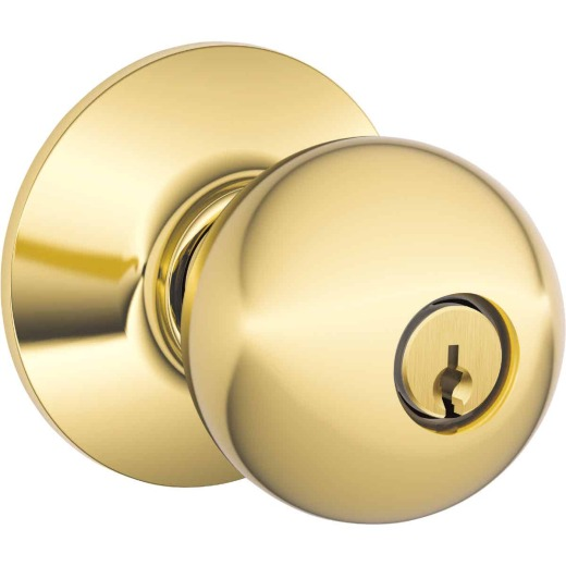 Schlage Bright Brass Storeroom Door Knob Lockset