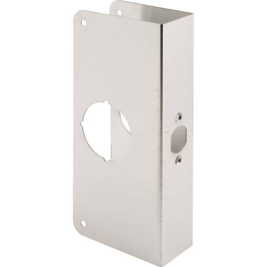 Defender Security 1-3/4 In. x 2-3/8 In. Stainless Steel Door Reinforcer
