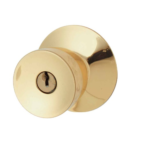 Schlage Bell Bright Brass Entry Door Knob