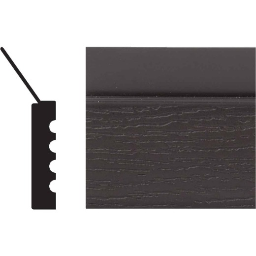 Royal Thermo Stop 2 In. W. x 7/16 In. H. x 7 Ft. L. Brown PVC Weatherstrip Garage Door Stop