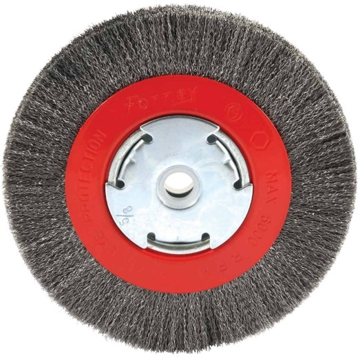 Forney 6 In. Crimped, Fine .008 In. Bench Grinder Wire Wheel