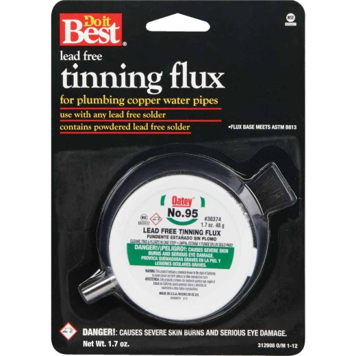 Do it Best No. 95 1.7 Oz. Lead-Free Tinning Flux with Brush, Powdered