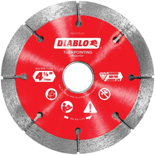 Diablo 4-1/2 In. Tuck Point Rim Dry/Wet Diamond Blade