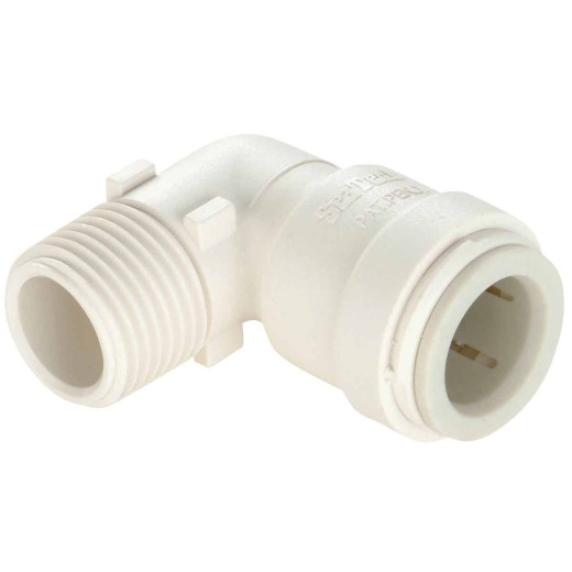Watts 1/2 In. CTS x 3/8 In. MPT Quick Connect Plastic Elbow