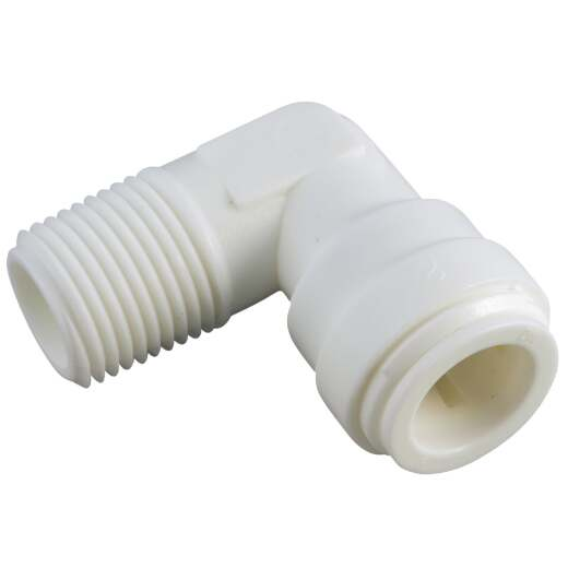 Anderson Metals 1/4 In. OD x 1/4 In. MIP Push-in Male Plastic Elbow