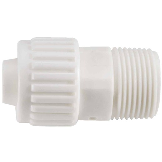 Flair-It 3/8 In. x 3/8 In. Poly Alloy Male Pipe Thread Adapter