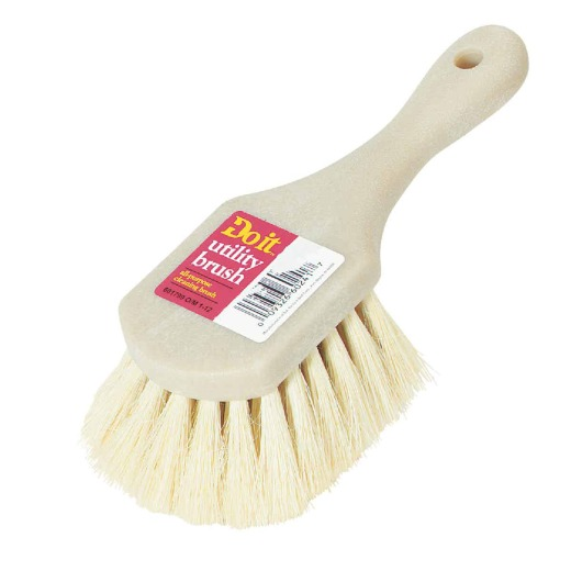 Do it 9 In. x 3 In. White Tampico Bristle Fiber Poly Scrub Brush