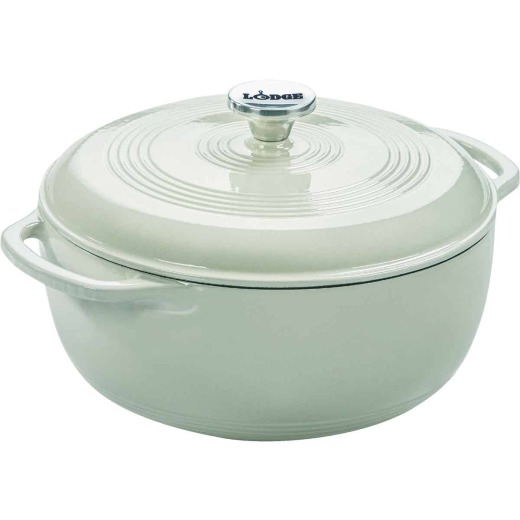 Lodge 6 Qt. White Enamel Dutch Oven