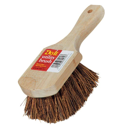 Do it 9 In. x 3 In. Palmyra Bristle Fiber Wood Scrub Brush