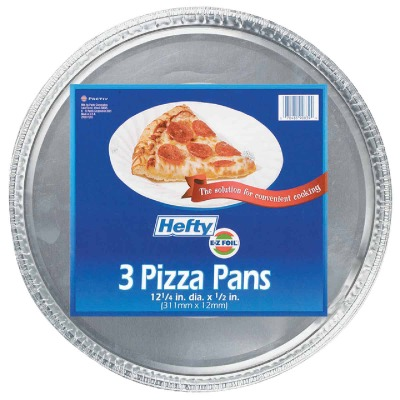 Hefty Aluminum Foil 12-1/4 In. Pizza Pan (3-Pack)