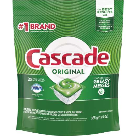 Cascade Action Pacs Fresh Dishwasher Detergent Tabs (25 Count)