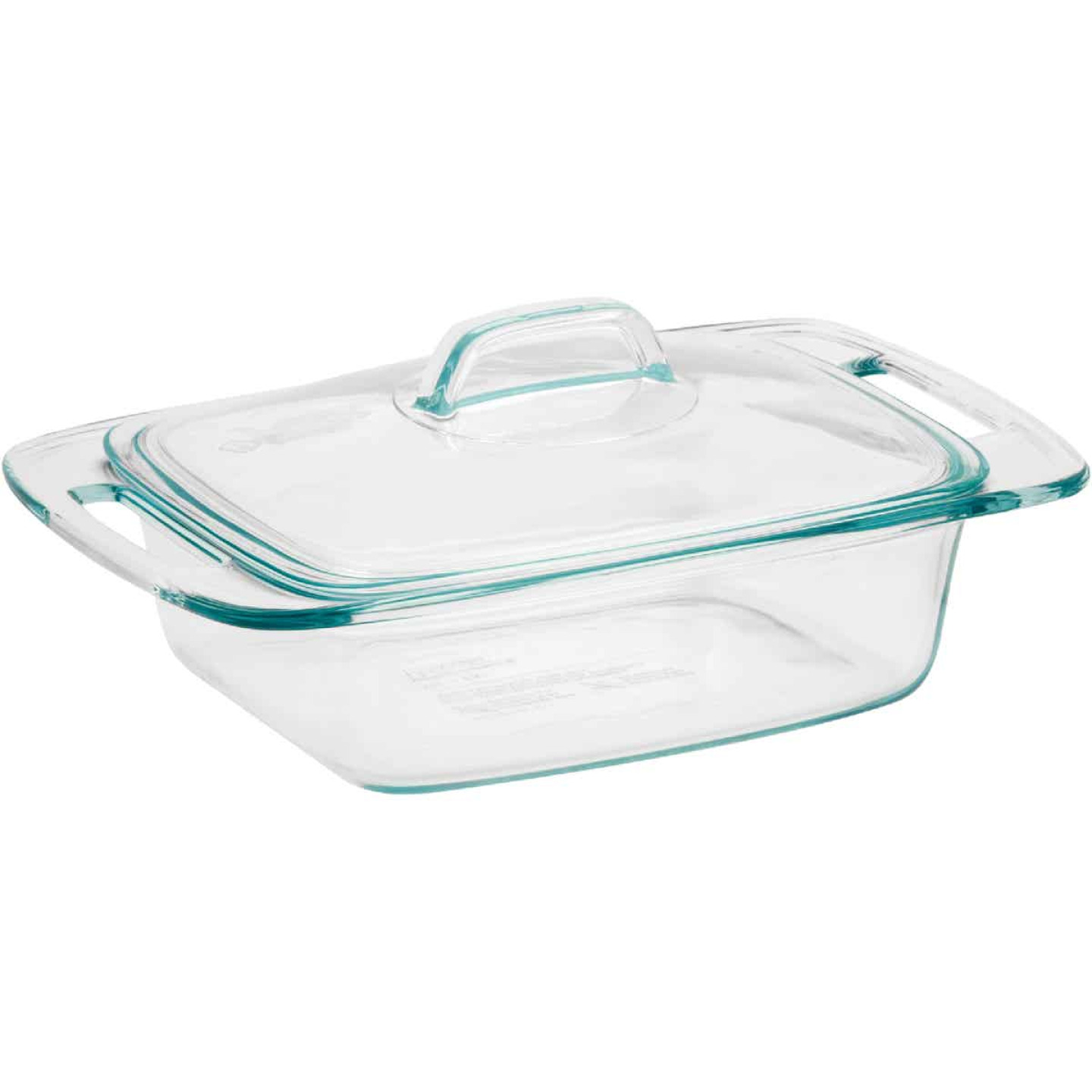 Pyrex Easy Grab 2 Quart Casserole Dish with Glass Cover Image 1