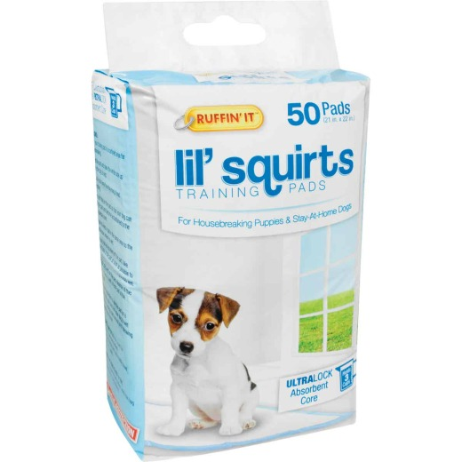 Ruffin' it Lil' Squirts 21 In. x 22 In. Puppy Training Pads (50-Pack)