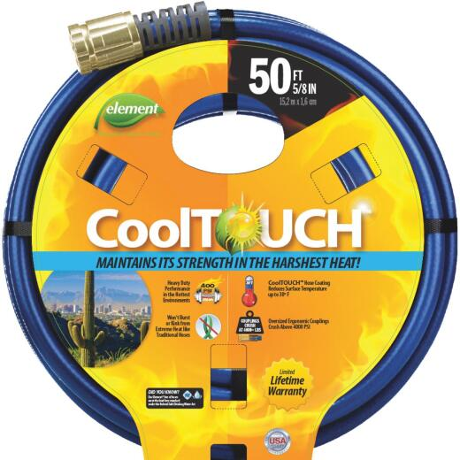 Element CoolTouch 5/8 In. Dia. x 50 Ft. L. Drinking Water Safe Garden Hose