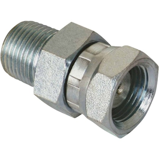 Apache 1/2 In. Male Pipe x 1/2 In. Female Pipe Swivel Straight Hydraulic Hose Adapter