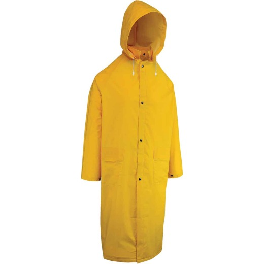 West Chester Large Safety Yellow PVC Trench Coat