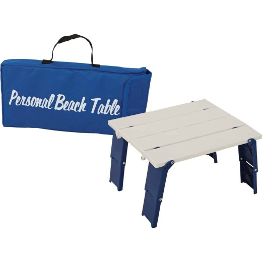 Rio Personal White 14 In. W. x 16 In. L. Rectangle Plastic Folding Side Table