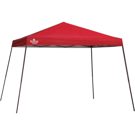 Quik Shade Shade Tech 12 Ft. x 12 Ft. Red Aluminex Fabric Canopy