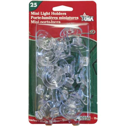 Adams Mini 1/2 Lb. Holding Capacity Self-Closing Suction Cup (25-Pack)